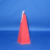 obelisk paraffine kaars Ø76mm x 174mm, rood